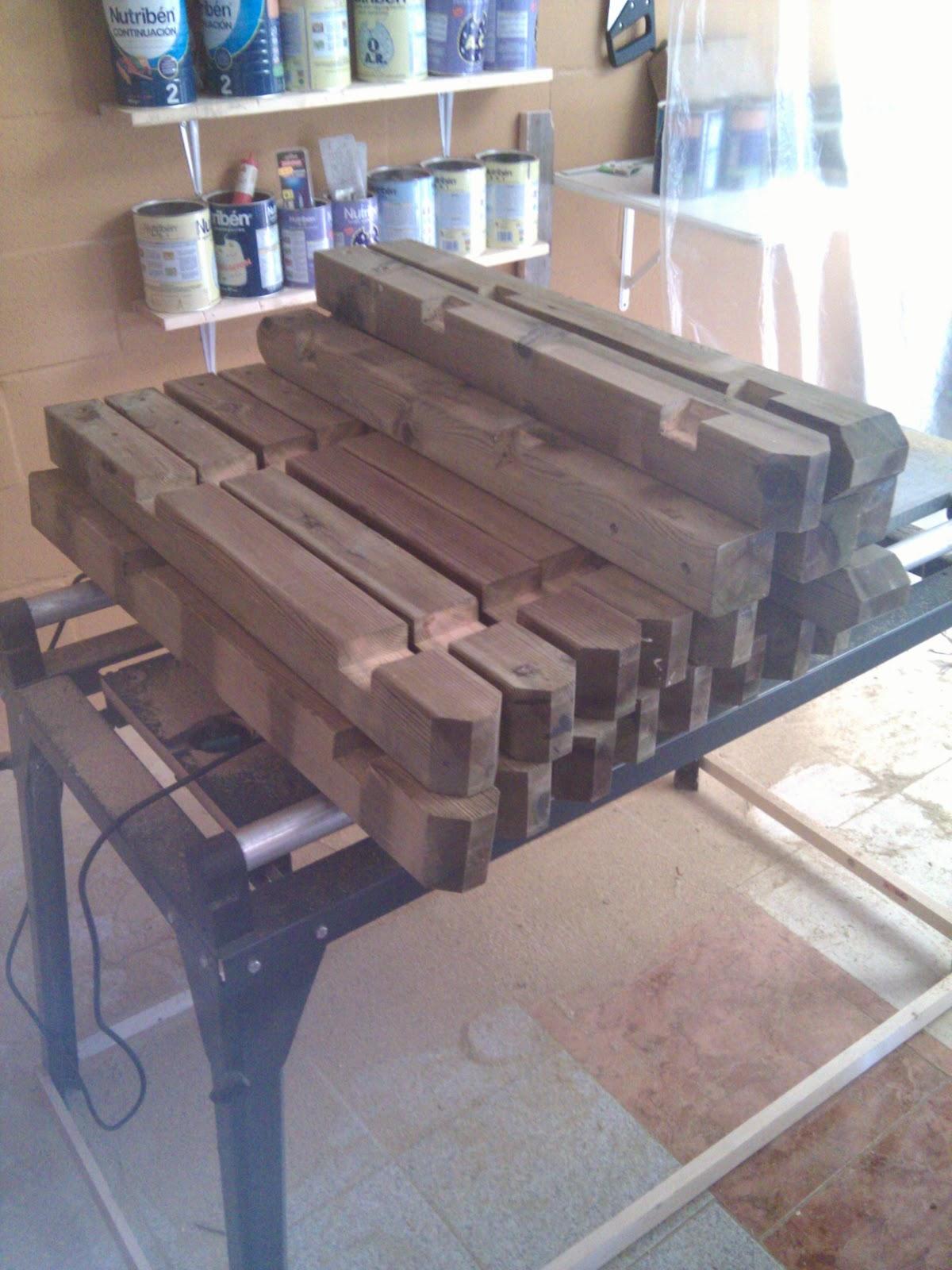 Rusticolaje valla de madera para piscina paso 1 materiales - Valla de madera ...