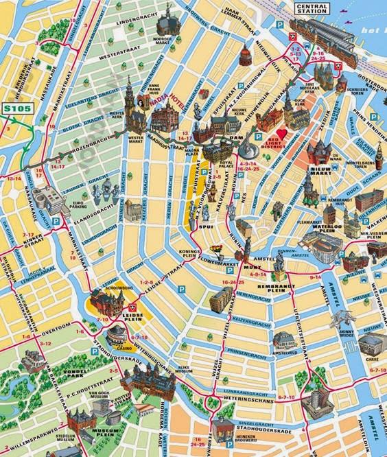Raquel ritz viajes mapas de msterdam for Centro di amsterdam