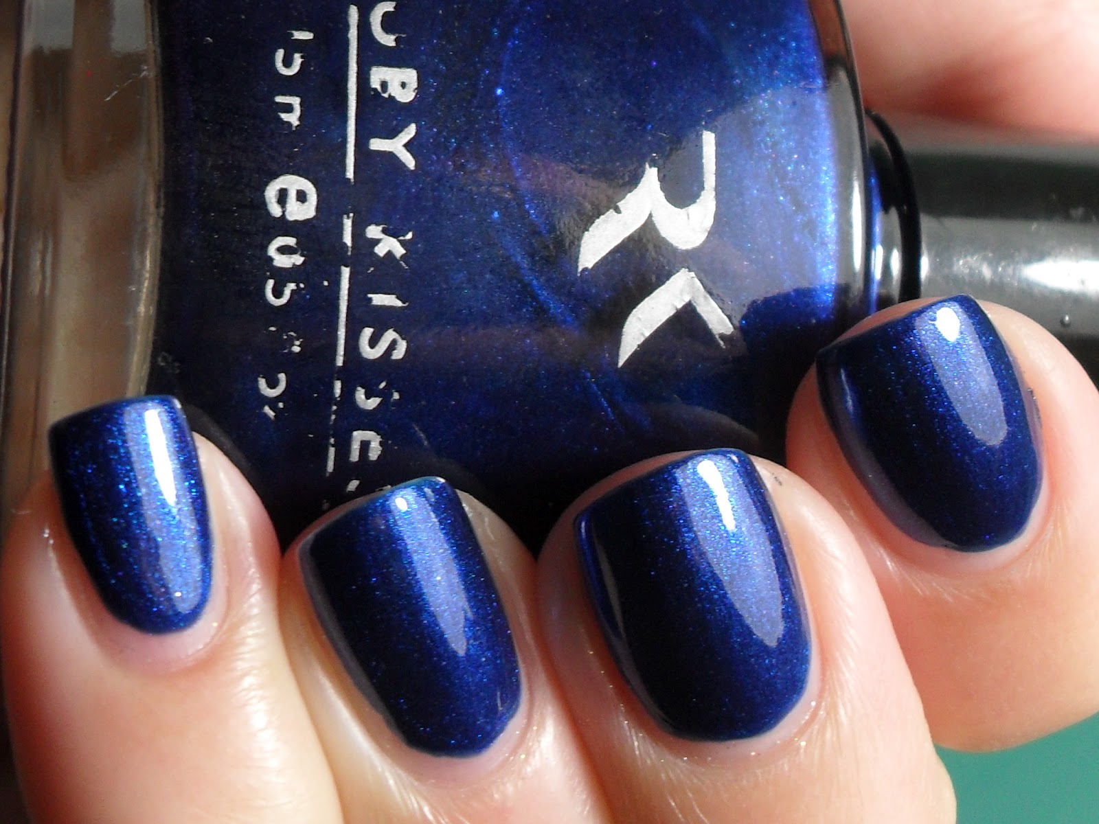 Polished Claws Up!: Old and New - Ruby Kisses Blue Pearl & OPI Goin ...
