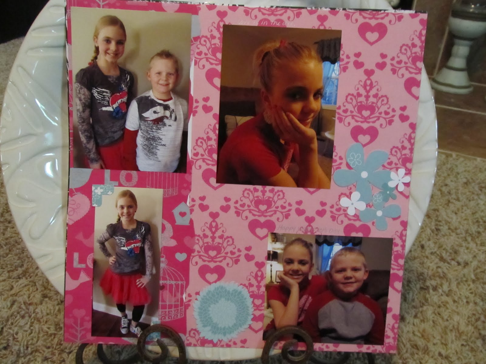 Justin bieber scrapbook ideas - I Completed These Pages At The Last Crop I Went To The Little Blue Flowers Were A Free Gift From Our Consultant