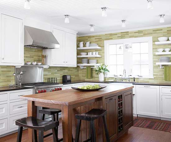 Affordable Home Furnishing Green Kitchen Design Ideas
