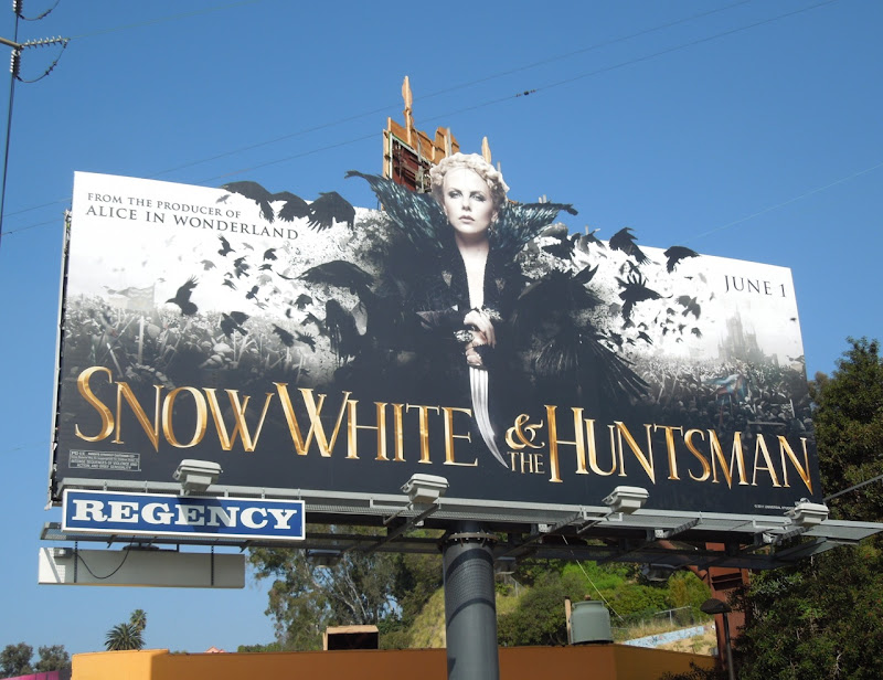 Snow White Huntsman Evil Queen billboard