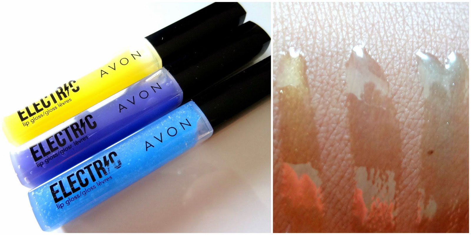 Avon Electric Lipgloss- Limited Edition swatches