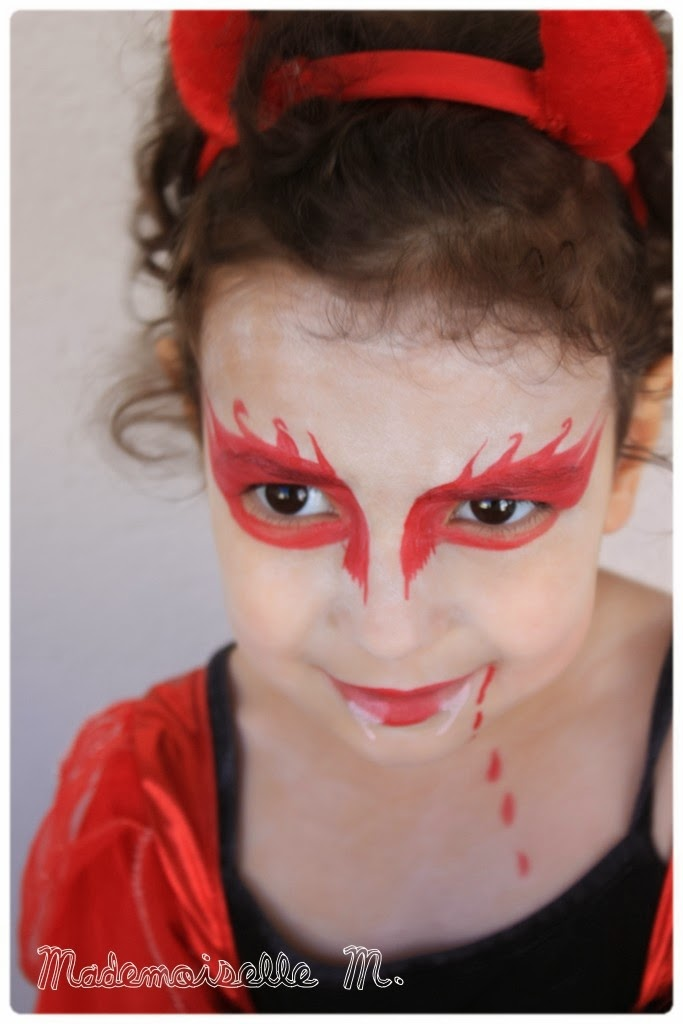 Jessou family make up halloween concours inside Maquillage de diablesse facile a faire