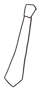 ネクタイのイラスト(父の日)線画