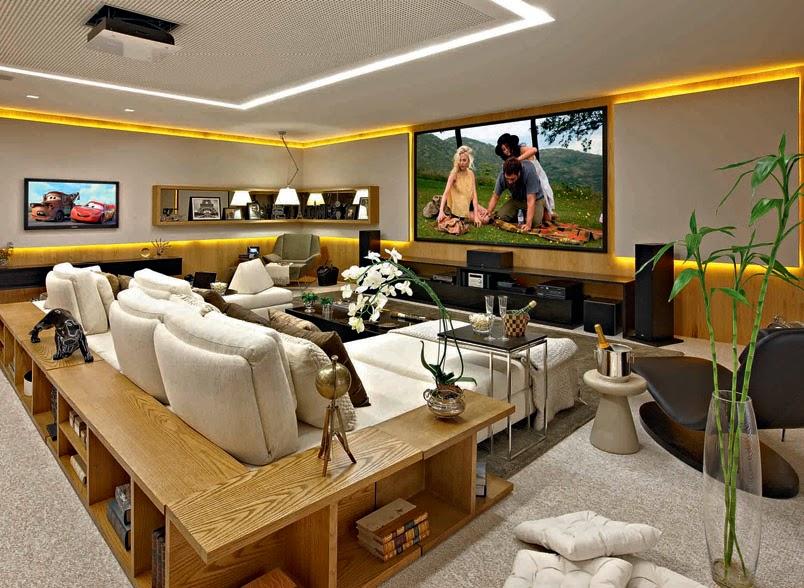 Sala De Tv Com Quadro ~ Home Theater – veja 30 salas decoradas, mais dicas e tendências