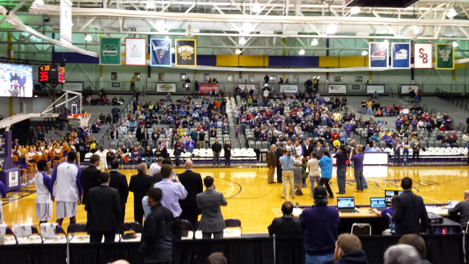My First UAlbany Basketball Game, February 2, 2015, SEFCU Arena