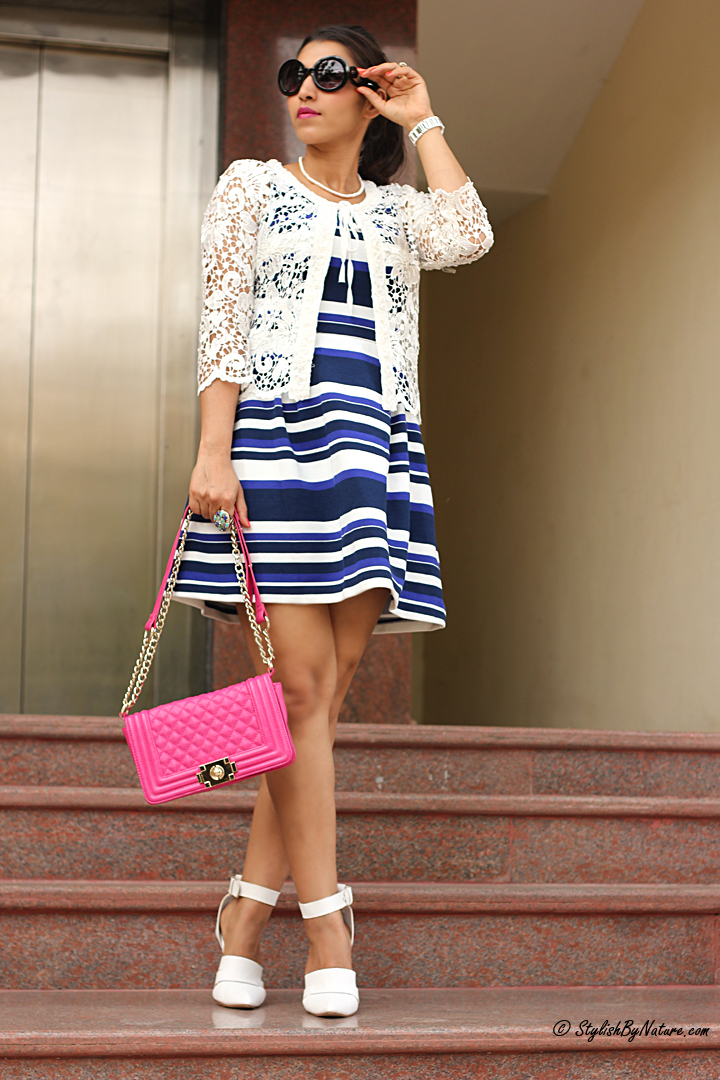 How to wear stripe dress
