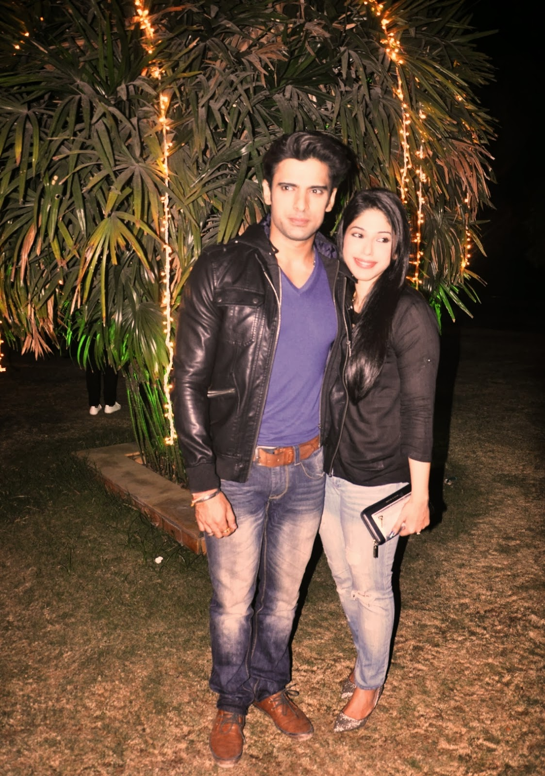 Mohit Malik with wife Addite