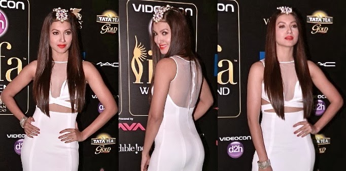 Gauhar Khan  at wards night in nude