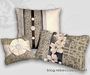 burlap pillow ensemble