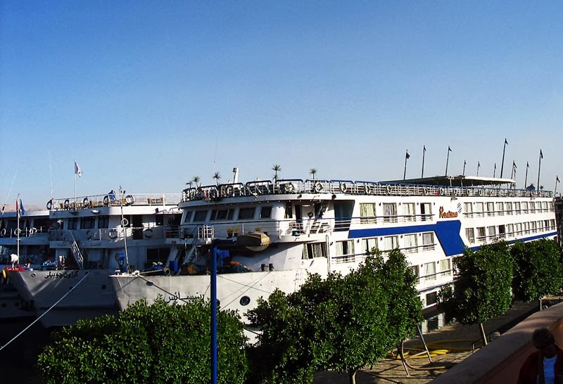 Cruise ship on the Nile in Egypt