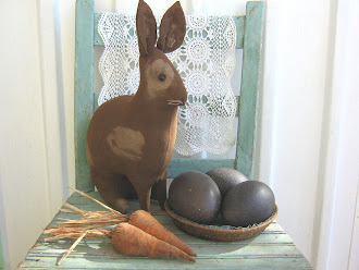 Spotted Hare Large - Steins Country Folkart - $75.00