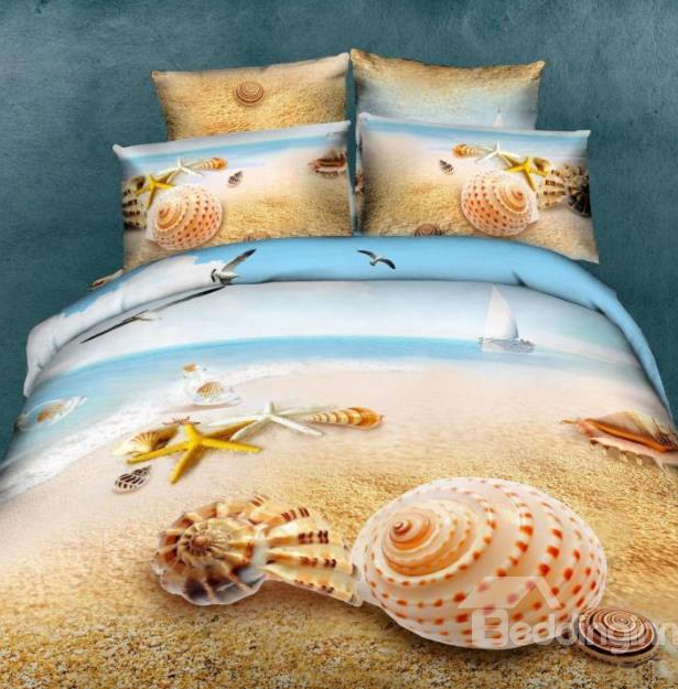 http://www.beddinginn.com/product/Unique-Starfish-Shell-On-Beach-Print-4-Piece-Bedding-Sets-Duvet-Cover-Sets-10575479.html
