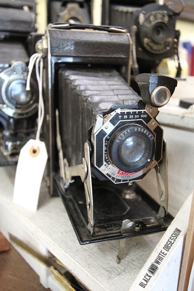 #thriftscorethursday Week 26- Vintage Kodak Camera at an Atlanta Antique shop | www.blackandwhiteobsession.com