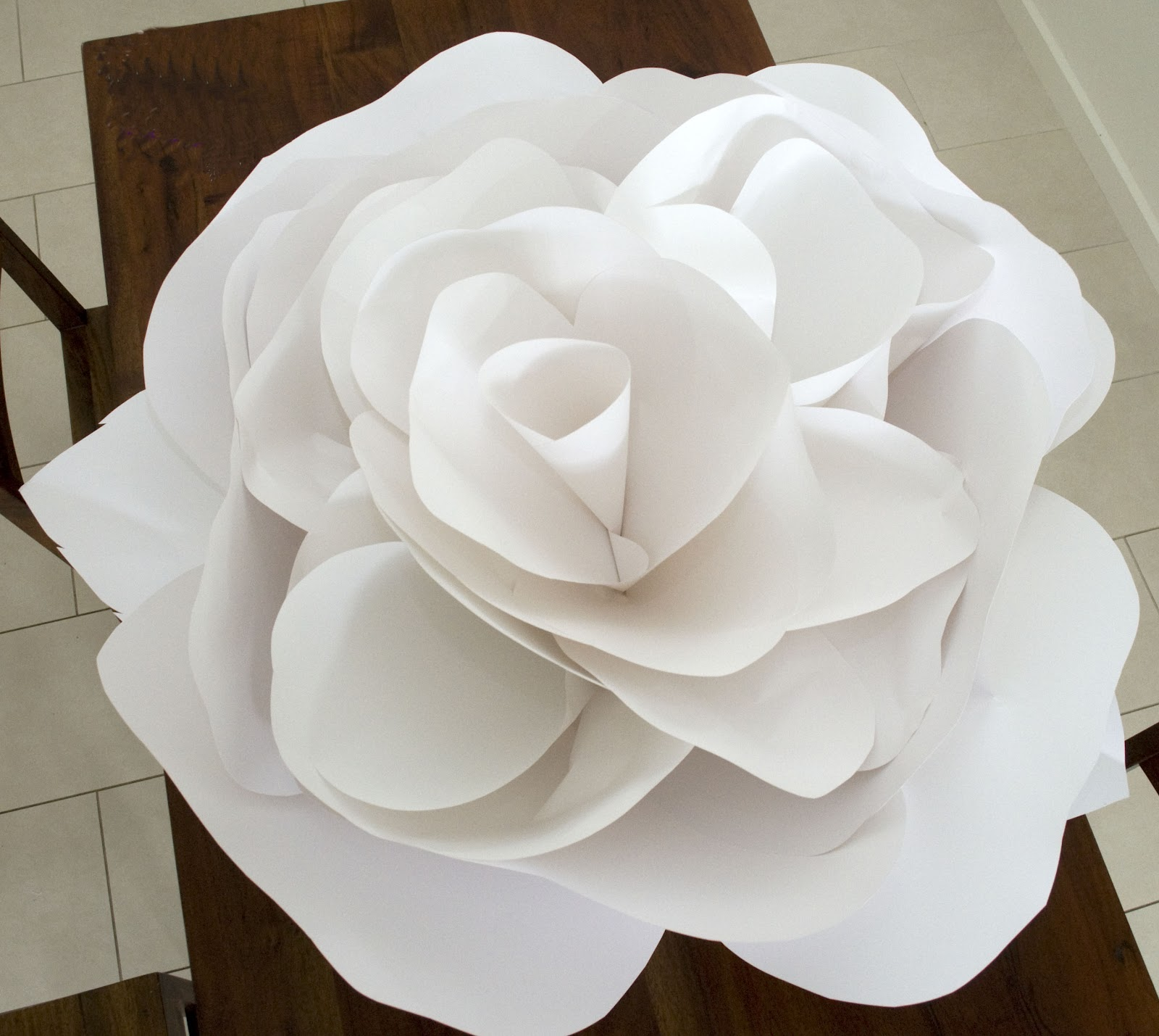 Grace designs giant paper flowers for Big flower paper template