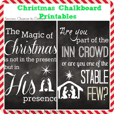 Second Chance to Dream:Christmas Chalkboard Printables #freeprintables