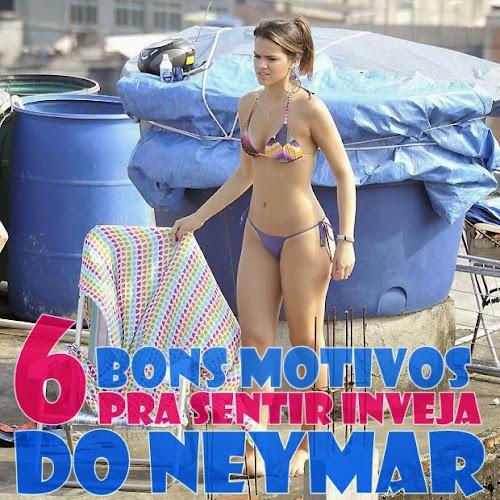6 Bons motivos pra sentir inveja do Neymar