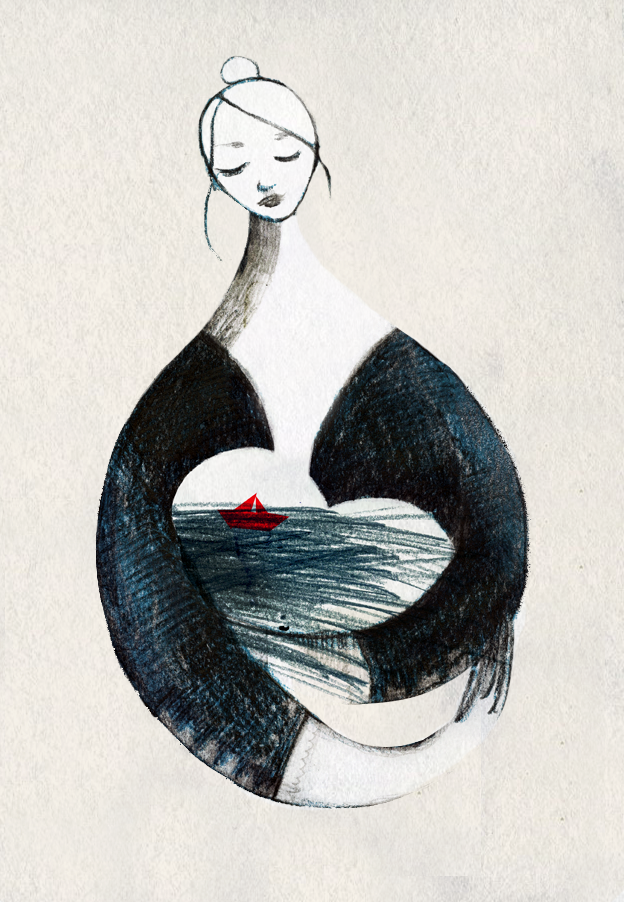 illustrazione mare lampedusa francesca ballarini
