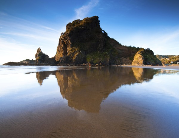 Lion Rock on one beach in Auckland