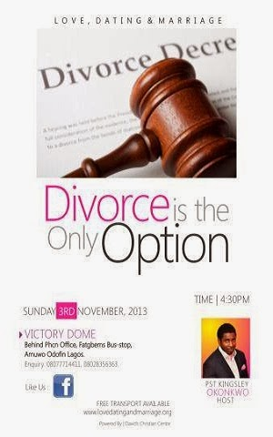 DIVORCE IS ONLY OPTION
