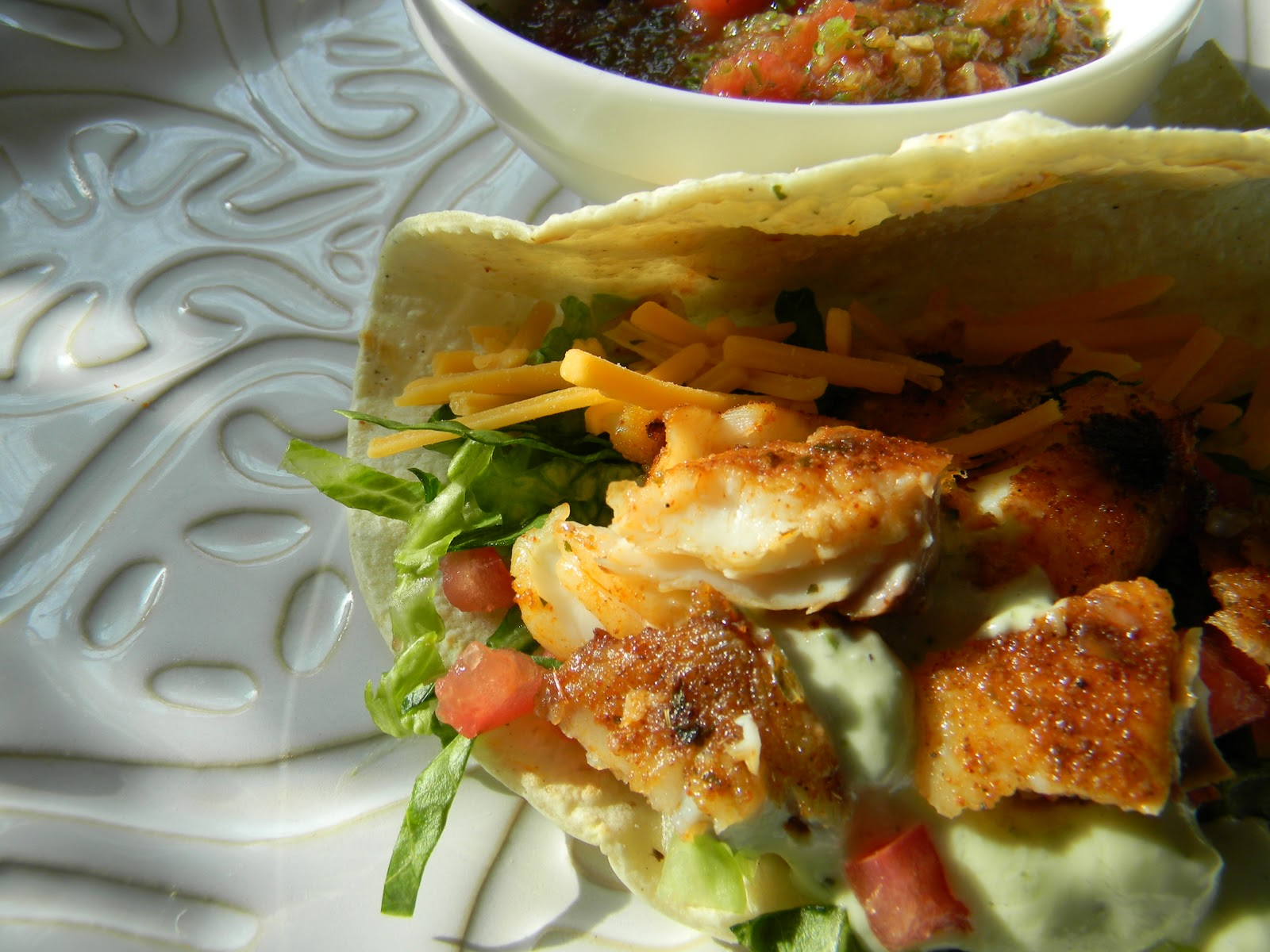 Angie Montroy–Angie's Pantry: Baja Fish Tacos with Avocado Cream ...