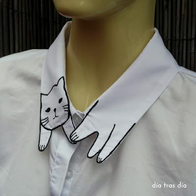 camisa cuello gato