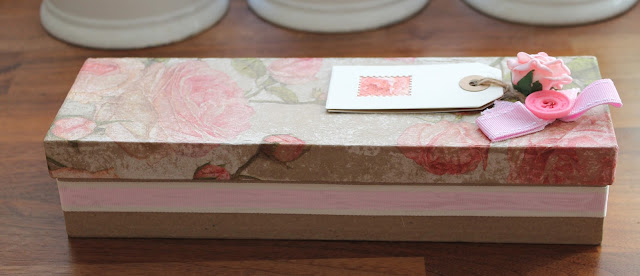 shabby chic gift box with flower