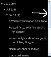 Membuat Scroll Pada Blog Archive (Arsip Blog)
