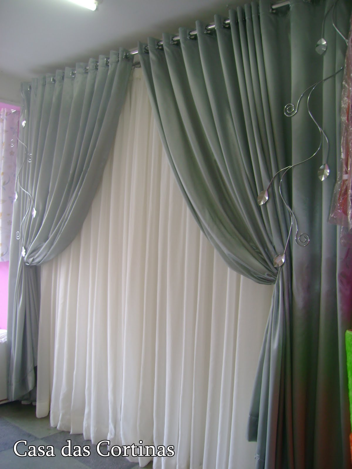 Casa das cortinas lindas cortinas for Cortinas para casa