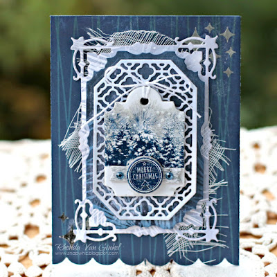 Merry Christmas Card featuring Sleigh Ride Collection by BoBunny designed by Rhonda Van Ginkel