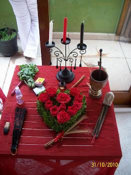 O Altar pode ser muito Simples mas feito com Esmero e Carinho!