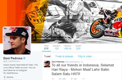 Ucapan Selamat Hari Raya Idul Fitri Pedrosa Khusus untuk Muslim Indonesia