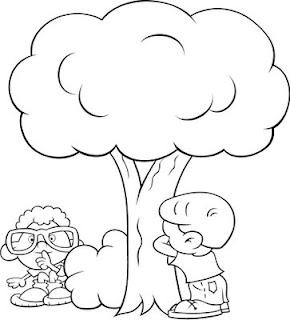 Desenho Para Colorir Dia da Árvore, 21 de setembro dia da árvore