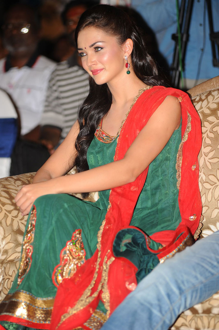 Tollywood Area: Amy Jackson in Green Salwar Kameez at Siva ...