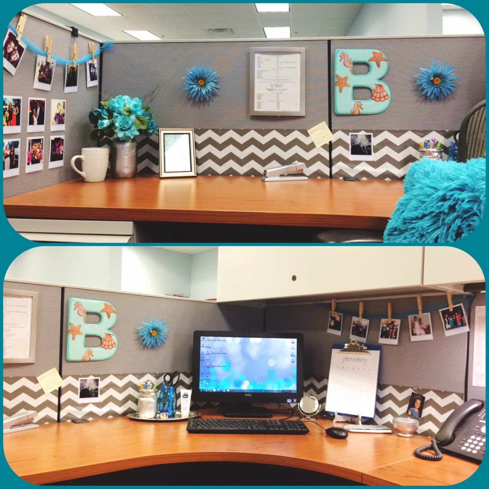 the beetique my office cubicle makeover
