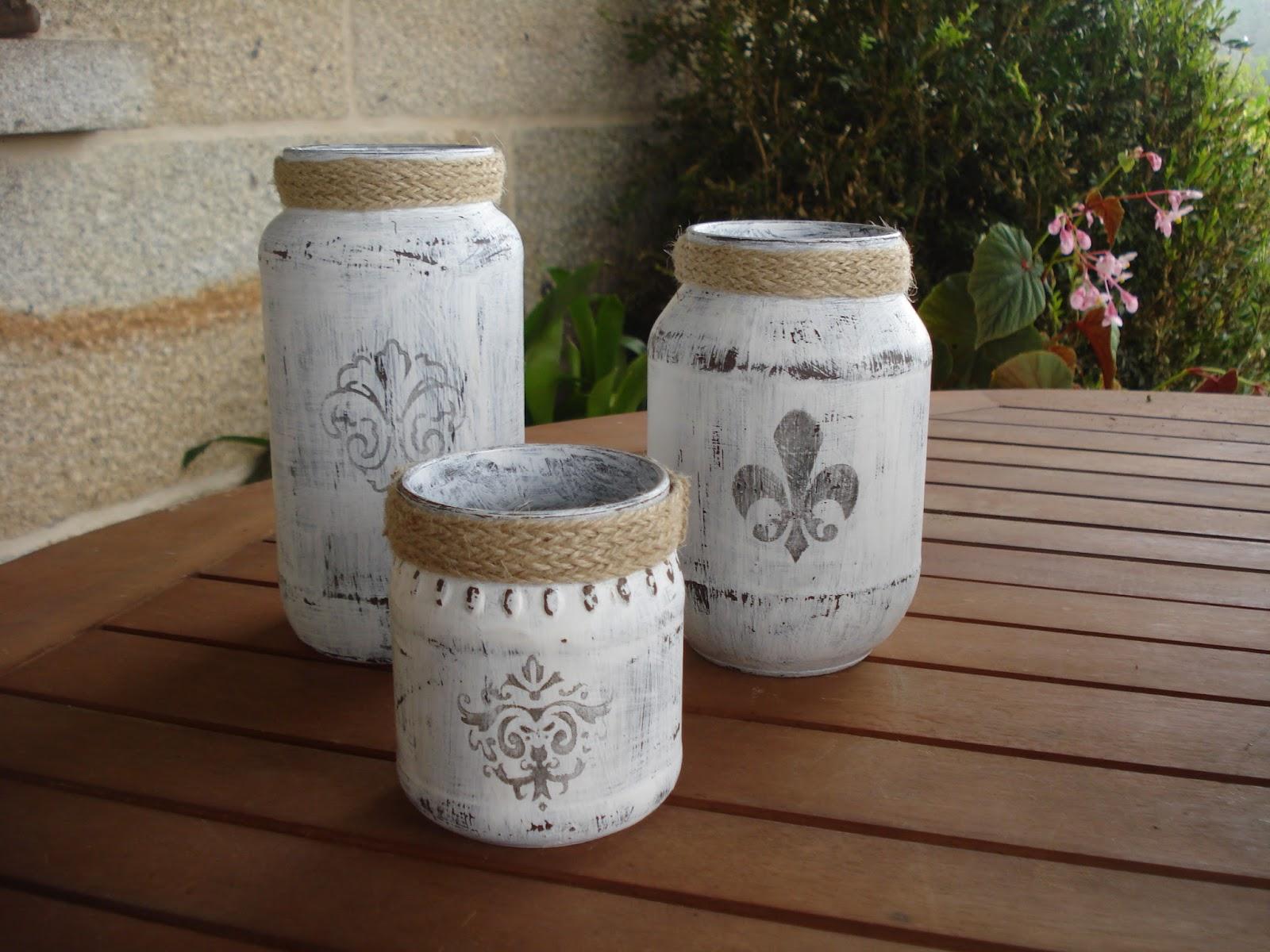 Xanela vintage tarros de cristal vintage for Reciclar botes de cristal decoracion