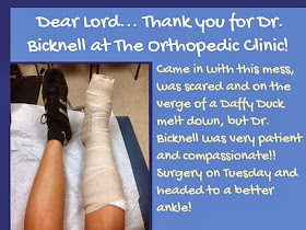 Thank You to The Orthopedic Clinic!