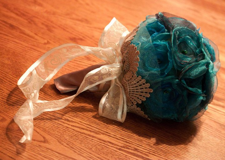 how to make organza balls
