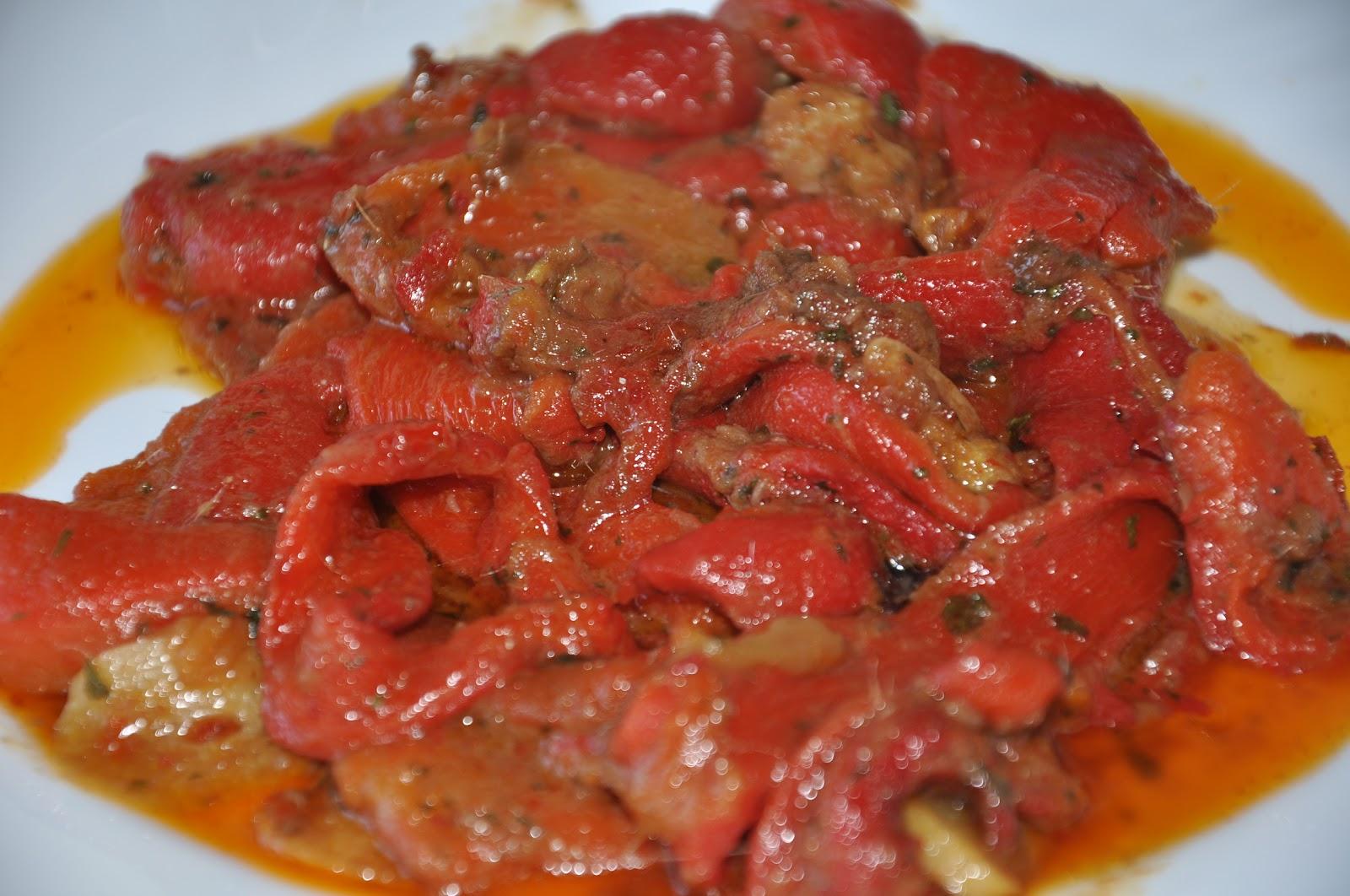 Pimientos asados con anchoas - Cocinar pimientos asados ...