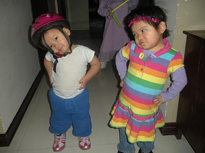 kids looking tough