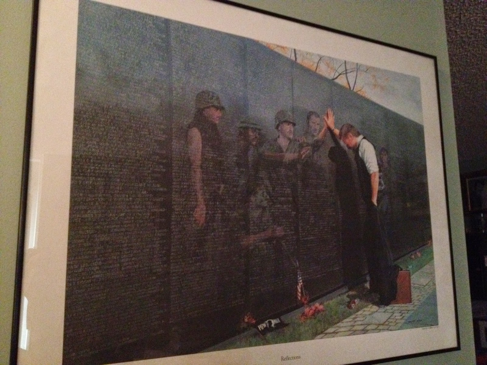The gallery for --> Vietnam War Memorial Painting Lee Teter