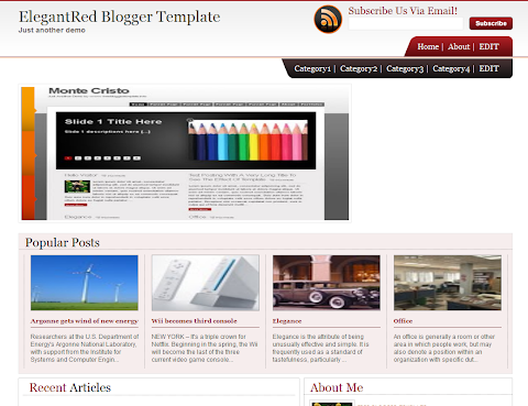 ElegantRed Blogger Theme