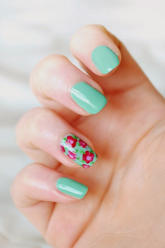 floral nails art design
