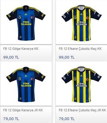 Fenerbahçe Formalarının fiyatları, Fener Formaları