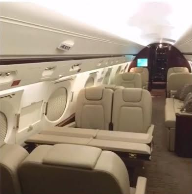 Floyd Mayweather shows off interiors of his private jet 'AirMayweather'
