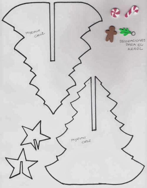 Molde arbol de navidad en foami - Imagui