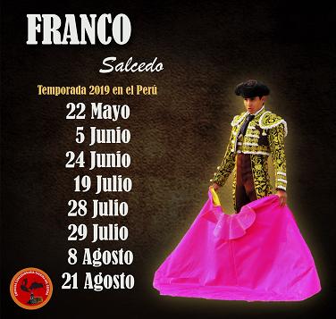 FRANCO SALCEDO - MATADOR DE TOROS