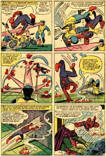 a six-panel Steve Ditko Spider-Man page