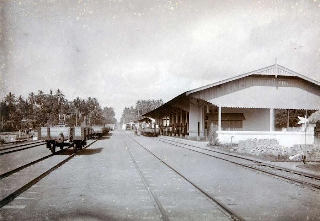 The old train station in Banyuwangi around 1900